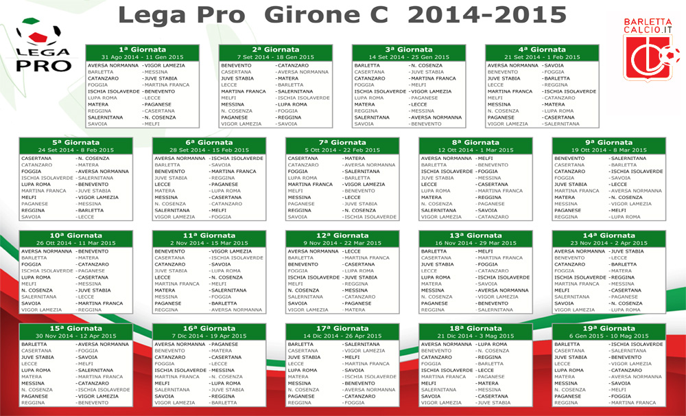 Calendario Lega Pro B.Barletta Calcio It Supporters Web Site